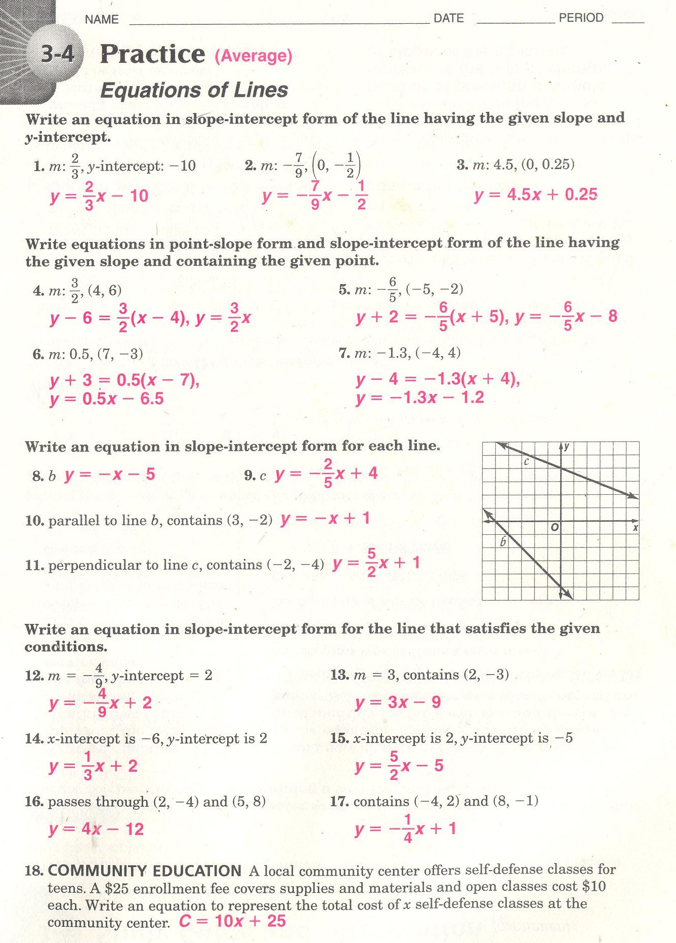 Math handouts for 5th grade
